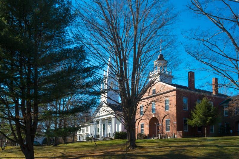 Gamla byggnader i Maine royaltyfri bild