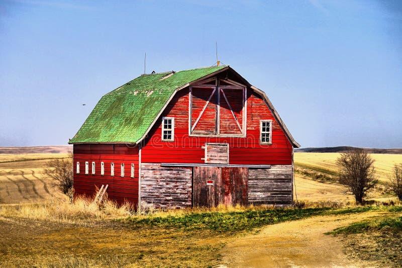 Gamla byggnader i västra North Dakota arkivbilder