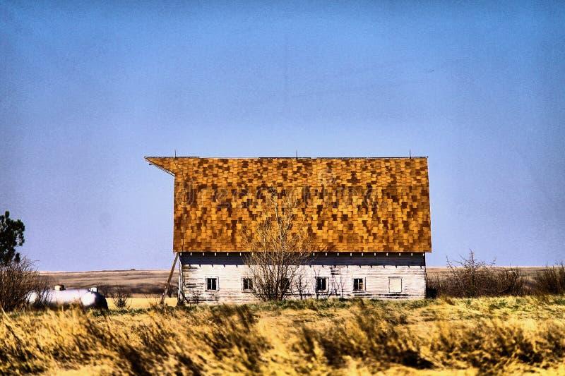 Gamla byggnader i västra North Dakota royaltyfria foton
