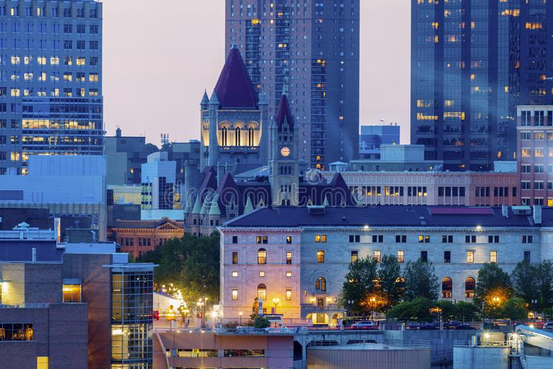 Gamla federala domstolar som bygger i St Paul arkivfoto