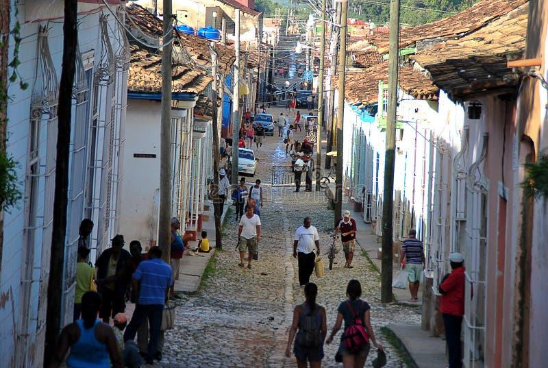 Gamla gator av staden arkivbild
