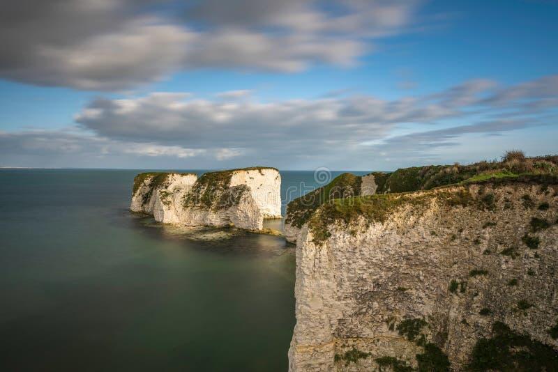 Gamla Harry Rocks, Jurassic kust, Dorset royaltyfri bild