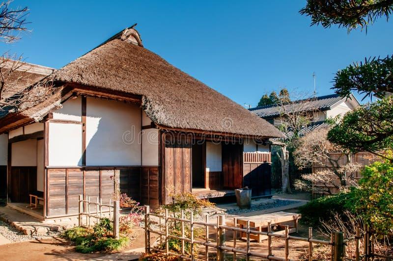 Gamla historiska samurajhus i den Sakura staden, Chiba, Japan royaltyfri fotografi