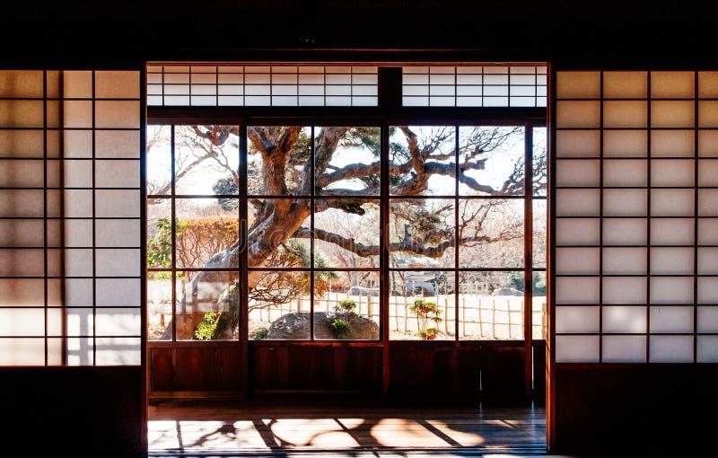 Gamla historiska samurajhus i den Sakura staden, Chiba, Japan royaltyfri bild