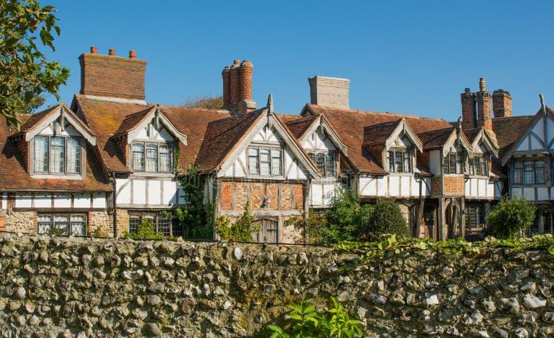 Gamla hus i Rottingdean, Sussex, England arkivbild