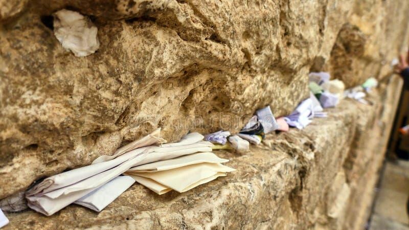Gamla Jerusalem, väggen av revor royaltyfri foto