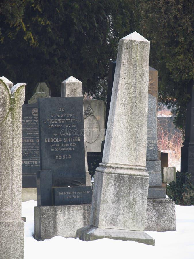 Gamla judiska gravstenar fotografering för bildbyråer