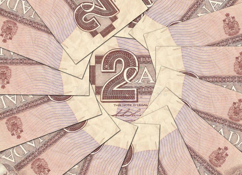 Gamla kanadensiska sedlar arkivbilder
