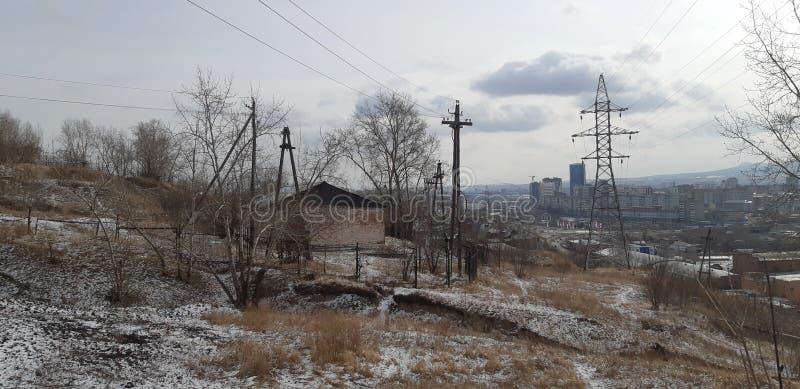 Gamla Krasnoyarsk arkivfoton