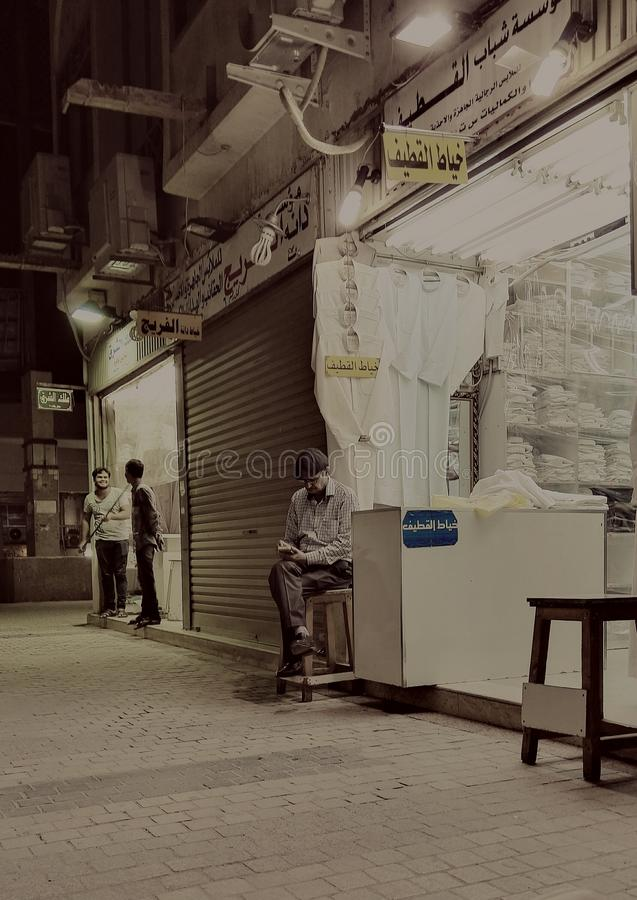 Gamla Kuwait shoppar arkivbilder