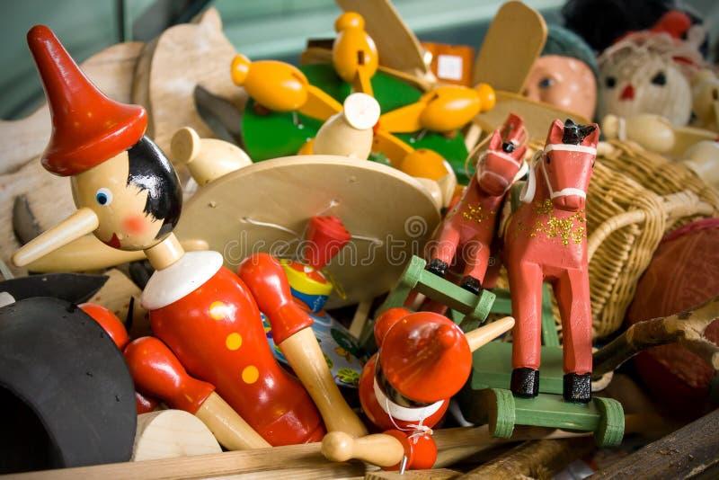 Gamla leksaker arkivfoto
