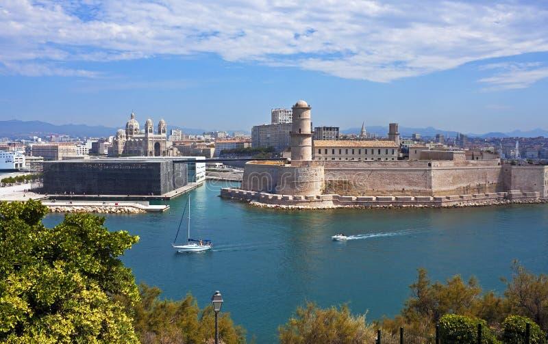Gamla Marseille, Frankrike arkivfoto