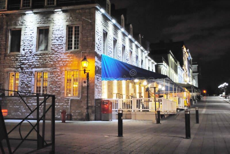 Gamla montreal vid natt arkivbilder