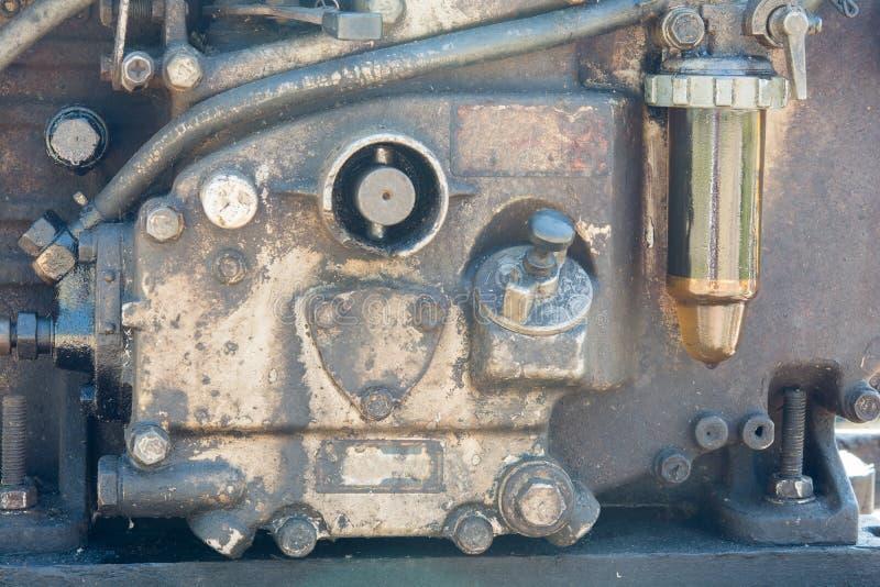 Gamla motorer och dammfläckar arkivbilder
