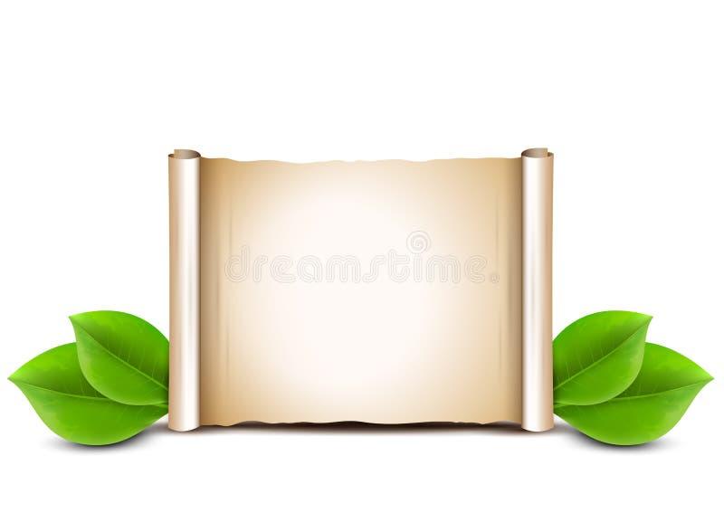 Gamla pappers- snirkel- och gräsplansidor på vit bakgrund royaltyfri illustrationer