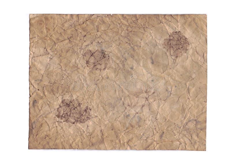 Gamla papperstexturer på vit bakgrund royaltyfria bilder