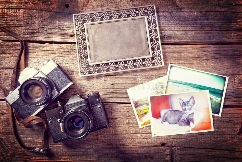Gamla photograpy objekt arkivfoton
