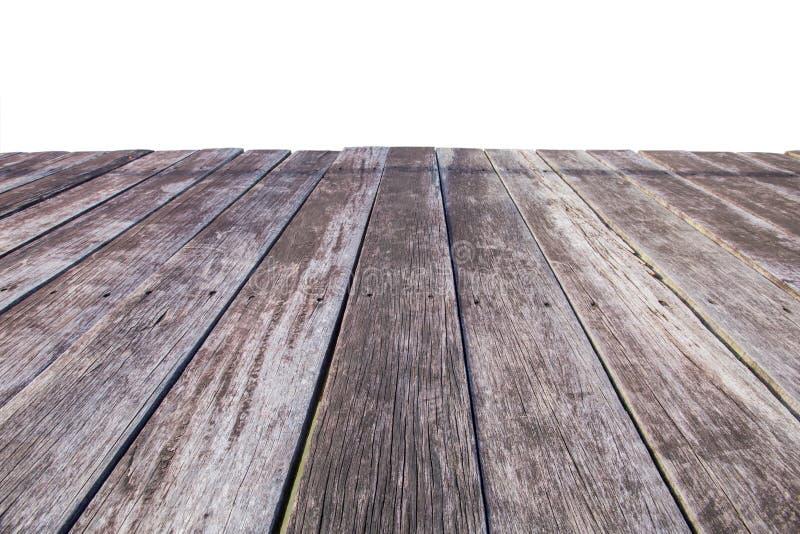 Gamla plankor som isoleras på vit arkivfoton