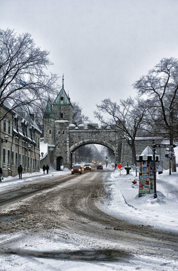 Gamla Quebec fotografering för bildbyråer