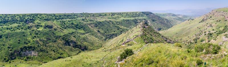 Gamla rezerwat przyrody, antyczny miasto Gamla, Izrael fotografia stock