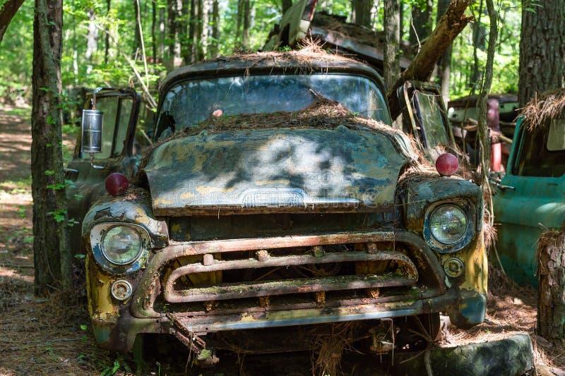 Gamla rostade ut Chevy Pickup royaltyfri foto