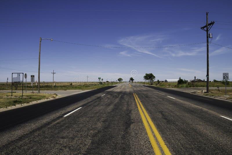 Gamla Route 66 i Texas royaltyfri foto