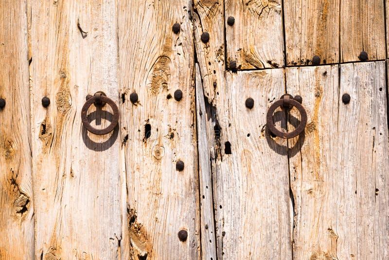 Gamla Rusty Wooden Doors (1) royaltyfria foton