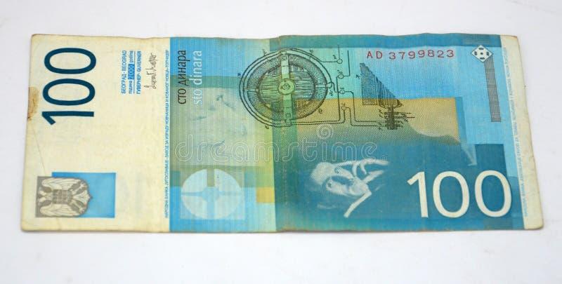Gamla Serbien dinar, pappers- pengar royaltyfri fotografi