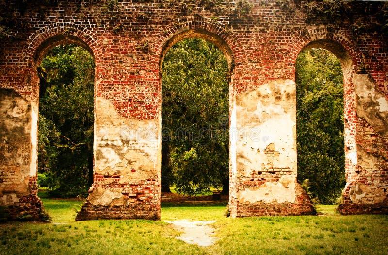 Gamla Sheldon Church Ruins arkivfoto