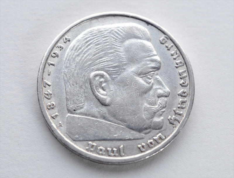 Gamla silvermynt - Tyskland royaltyfri foto