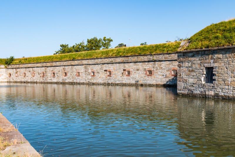 Gamla slav- Sanctuary på Fort Monroe i Hampton, Virginia royaltyfria foton