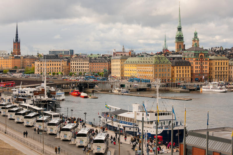 Gamla Stan in a cloudy summer day