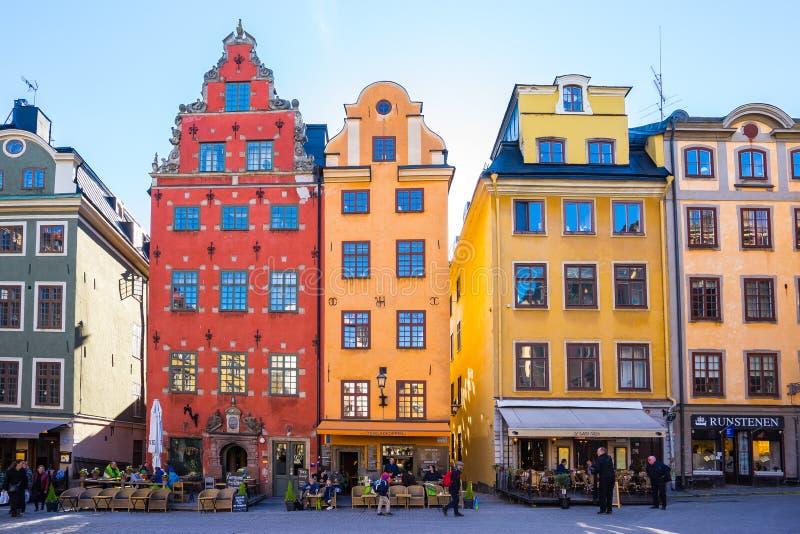 Gamla Stan dans la ville de Stockholm, Suède image libre de droits