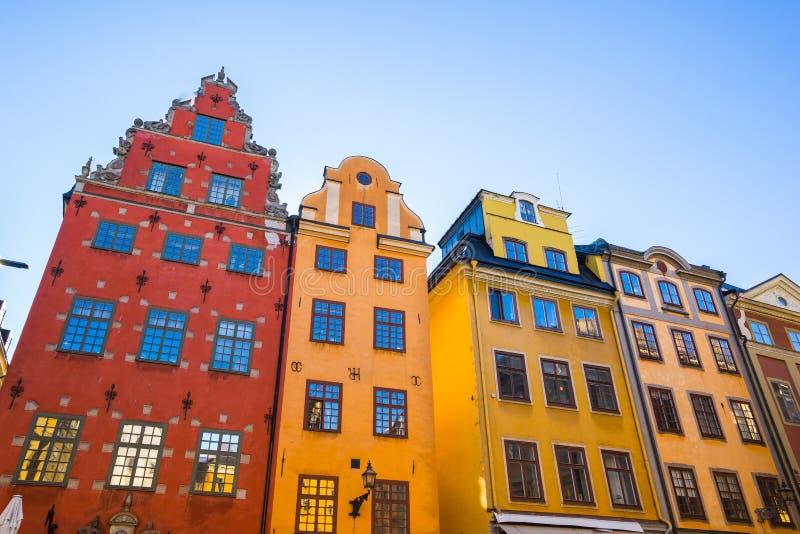 Gamla Stan en la ciudad de Estocolmo, Suecia imagenes de archivo