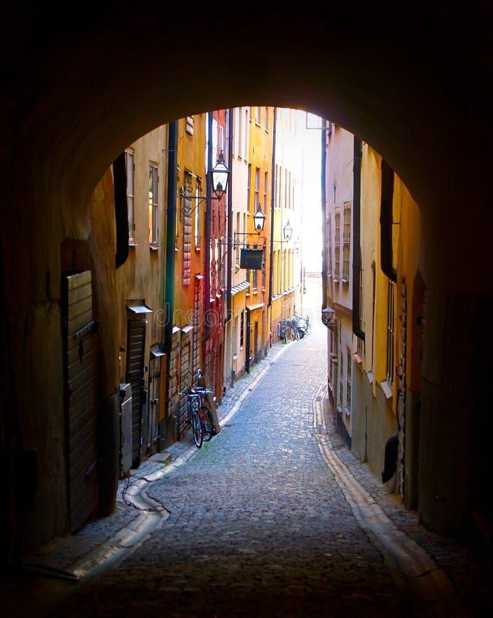 gamla stan stockholm fotografering för bildbyråer