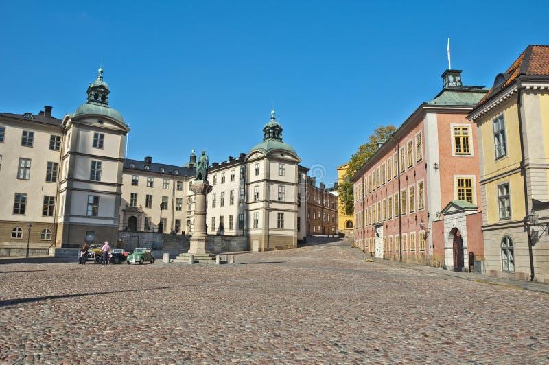 Gamla Stan View, Stockholm, Zweden stock afbeeldingen
