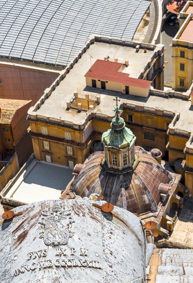 Gamla tak av Rome arkivbild