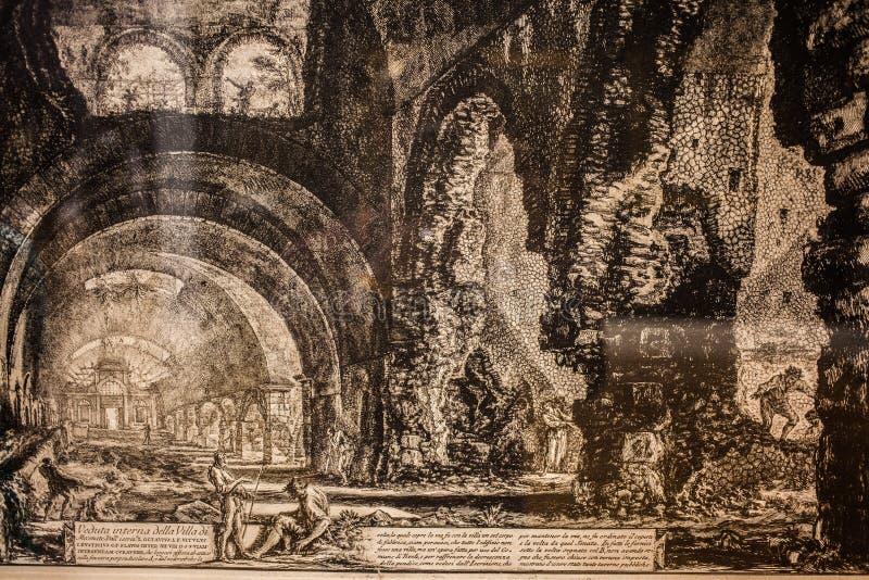 Gamla textutställningar i det nationella museet royaltyfria foton