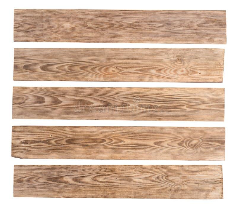 Gamla tr?plankor som isoleras p? vit bakgrund stock illustrationer
