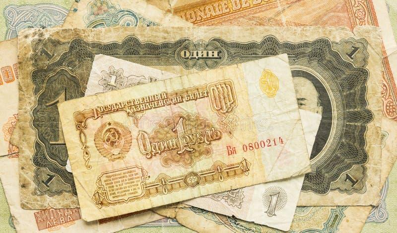 Gamla USSR-pengar rubles fotografering för bildbyråer