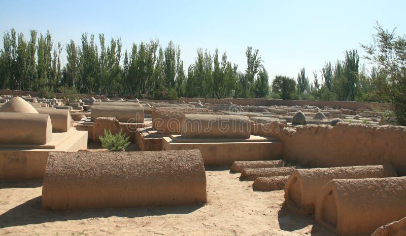 Gamla Uyghur gravvalv i Kashgar royaltyfria bilder