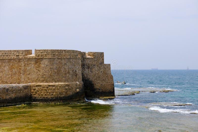 Gamla väggar av tunnlandet, Israel royaltyfria bilder