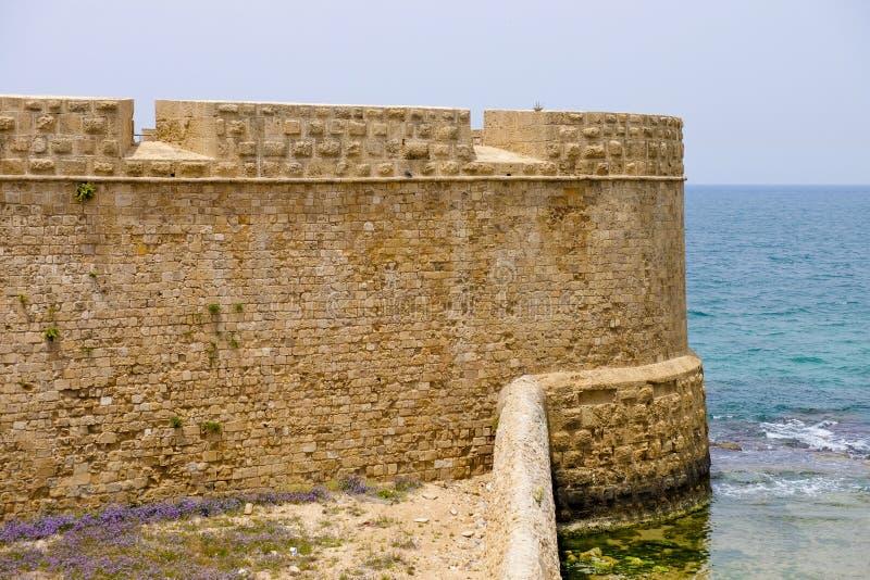 Gamla väggar av tunnlandet, Israel arkivbilder