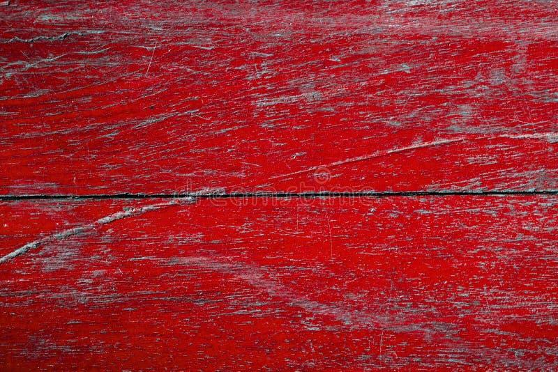 Gamla wood plankor med en röd rost arkivbild