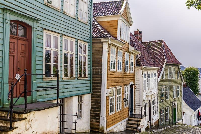 Gamle Bergen muzeum, Norwegia fotografia royalty free