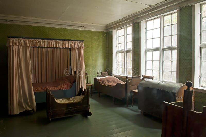 Gamle Bergen muzeum - Stary Bergen muzeum zdjęcie royalty free