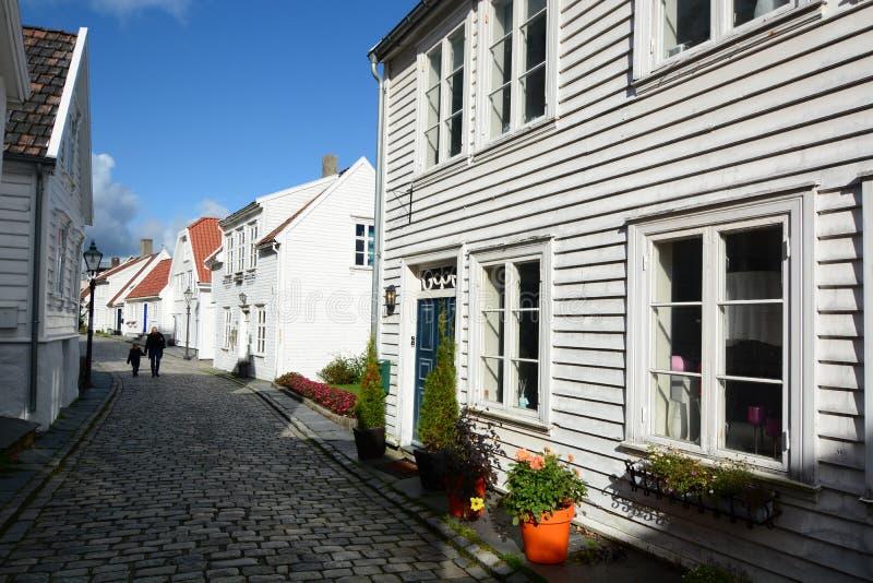 Gamle Stavanger, die alte Stadt Stavanger Rogaland-Grafschaft norwegen stockbild