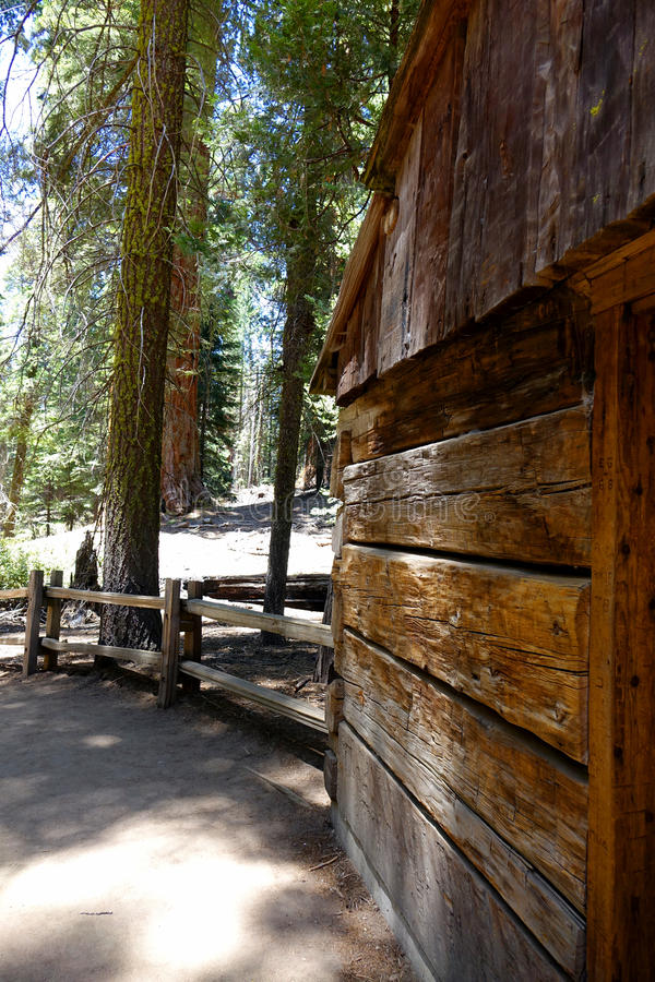 Gamlin Cabin Since 1872. Gamlin cabin was built during 1872 in what is now California's Sequoia National Park stock photography