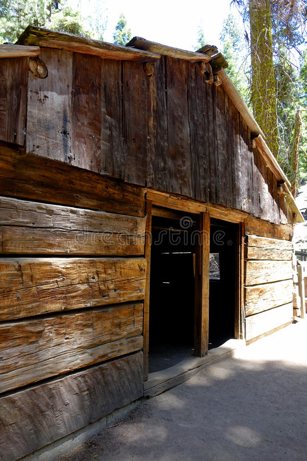 Gamlin Cabin Since 1872. Gamlin cabin was built during 1872 in what is now California's Sequoia National Park royalty free stock images