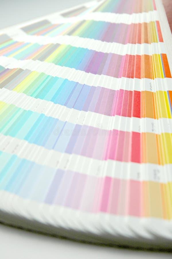 Gamma di colori immagini stock